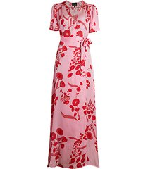 krissy floral maxi wrap dress