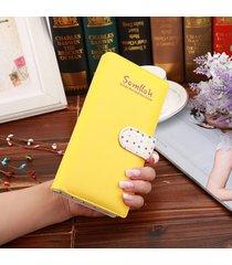 billetera mujeres- perlas colgantes ornamentos-amarillo