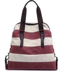 kvky borse di tela a righe borse a spalla vintage borsa da spiaggia estiva per donna