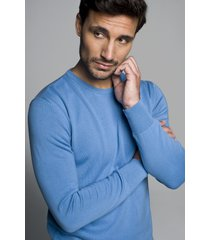 sweter darton półgolf niebieski
