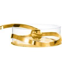 saladeira duo com pegador ouro 24k - riva