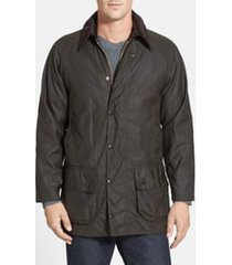 men's barbour 'classic beaufort' relaxed fit waxed cotton jacket, size 40 - green