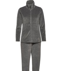 decoy velour homewear set pyjamas grå decoy