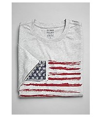 1905 collection tailored fit crew neck american flag t-shirt