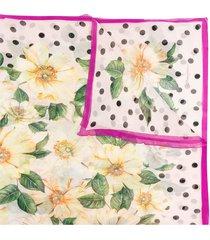 dolce & gabbana lightweight floral silk scarf - pink