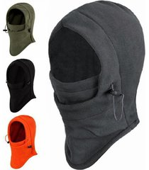 6 in 1 thermal fleece balaclava outdoor ski masks bike cyling beanies winter win
