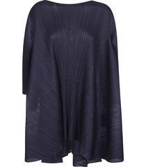 pleats please issey miyake pleated wide mid-length dress