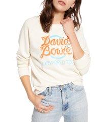 women's treasure & bond band graphic sweatshirt, size large - white
