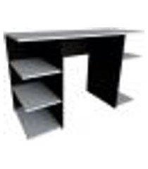 mesa gamer kitcubos preta e cinza cristal