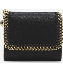 stella mccartney small falabella wallet with contrasting details