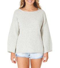 women's rip curl surf shack nep flecked pocket sweater