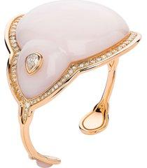 pink opal fluid droplet bracelet