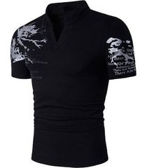 camiseta de hombre de manga corta con estampado de estilo europeo henry de gran tamaño b69