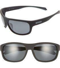 polaroid plastic wrap 63mm polarized sunglasses in black at nordstrom