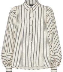 tegan shirt blouse lange mouwen crème mother of pearl