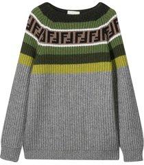 fendi gray sweater
