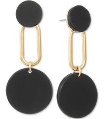 alfani gold-tone helio stone statement earrings, created for macy's