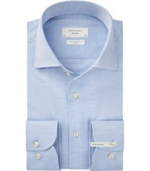 mouwlengte 7 overhemd profuomo blauw slim fit