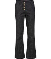 pantaloni in twill con poliestere riciclato (nero) - bodyflirt