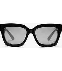 mk occhiali da sole berkshires - nero/bianco (nero) - michael kors