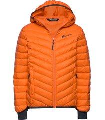 hurum light down jacket gevoerd jack oranje skogstad