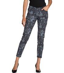 mönstrade jeans amy vermont svart::silverfärgad
