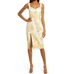dress the population cadence embroidered cocktail dress, size xx-large in tuscan sun multi at nordstrom