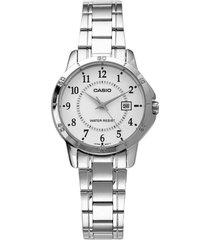 reloj análogo casio ltp-v004d-7b-gris