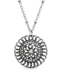 2028 silver-tone crystal pendant necklace