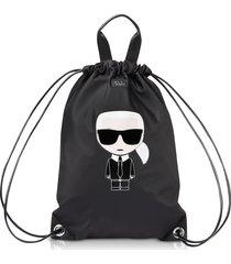 karl lagerfeld designer handbags, k/ikonik nylon flat backpack