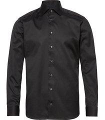 cambridge-collection-slim fit overhemd business zwart eton