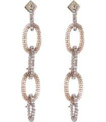 women's alexis bittar crystal encrusted chain drop earrings