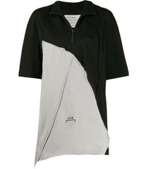 a-cold-wall* oversized zip-up t-shirt - black
