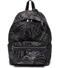 city' palm print backpack