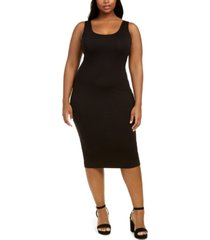bar iii bodycon scoop-neck midi dress, created for macy's