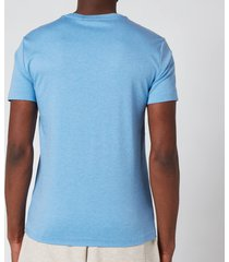 polo ralph lauren men's custom slim interlock t-shirt - soft royal heather - s
