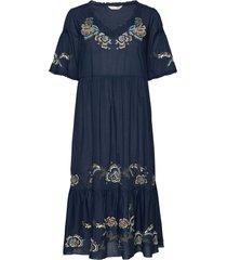 free the flower dress knälång klänning blå odd molly
