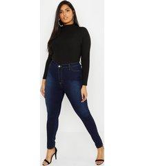 plus super high waisted power stretch jeans, indigo