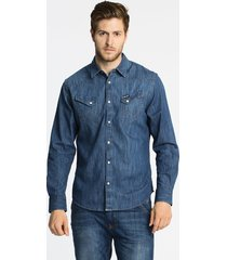 wrangler - koszula western indigo