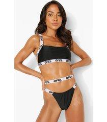 woman korte bikini top met rug bandjes