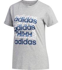 camiseta gris adidas estampada big