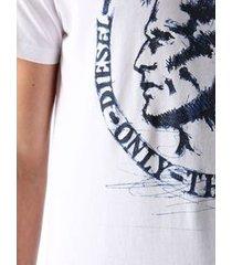 camiseta diesel t-diego-fr branca