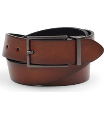 alfani men's reversible gunmetal faux leather belt, created for macy's