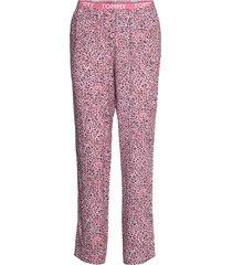woven pant print pyjamasbyxor mjukisbyxor rosa tommy hilfiger