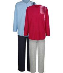pyjama g gregory robijnrood::lichtblauw