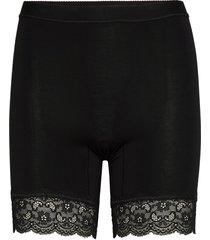 short leggings with lace lingerie shapewear bottoms svart lady avenue
