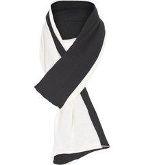 cachecol bicolor fyi – preto e off white