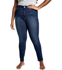 cotton on curve tall adrianna skinny high jean, plus size