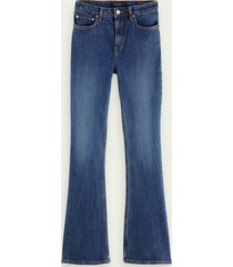 scotch & soda the charm high-rise flared jeans - take me out