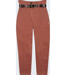 motivi pantaloni carrot con cintura donna rosa